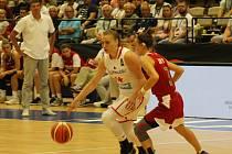 Snímky z ME basketbalistek dívek do 20 let v Klatovech v roce 2019.