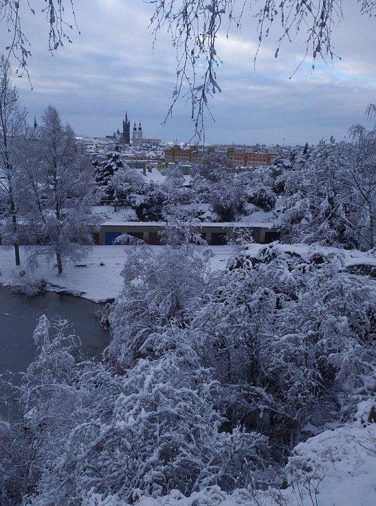 Klatovsko pod sněhem.