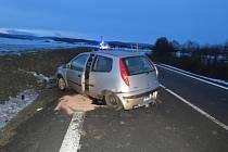 Nehoda u Dolní Lhoty.