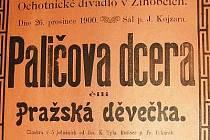 Plakát žihobeckých ochotníků