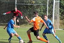 1. B třída 2016/2017: Chanovice (oranžové dresy) - Měčín 1:0