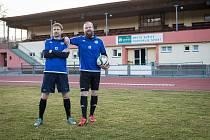 """Pavel Hubáček (vlevo) s trenérem TJ Sušice """"A"""" Pavlem Hrubcem."""