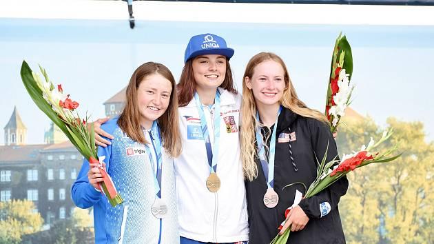 Antonie Galušková získala na MS v Polsku tři medaile. Celkově zažila velmi úspěšnou sezonu.