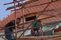 Oprava střechy zámku v Horažďovicích