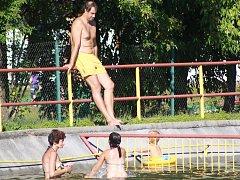 Bazén v kempu v Běšinech nezklamal, ani nenadchnul