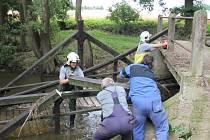 Následky povodní ve velkém parku v Klatovech