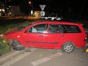 Nehoda opilého řidiče u Klatovské nemocnice.