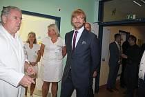 Ministr zdravotnictví Adam Vojtěch v Klatovské nemocnici.