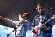 Během festivalu Open Air Lázně v Klatovech vystoupil zpěvák Ben Cristovao.