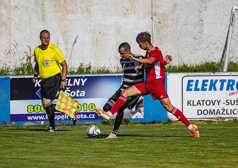 Klatovský fotbalista Jan Zajíček.