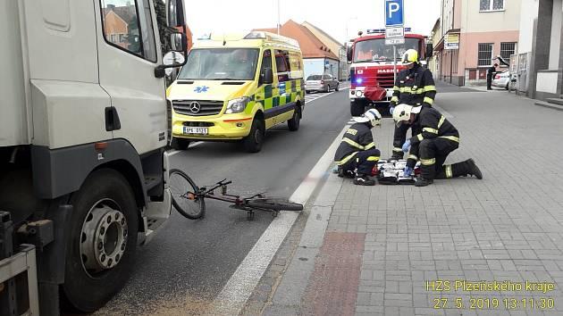 Nehoda v Horažďovicích.