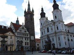 Černá věž na náměstí v Klatovech