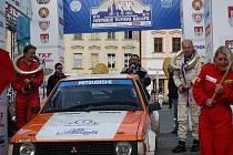 Cíl 20. ročníku Historic Vltava Rallye.