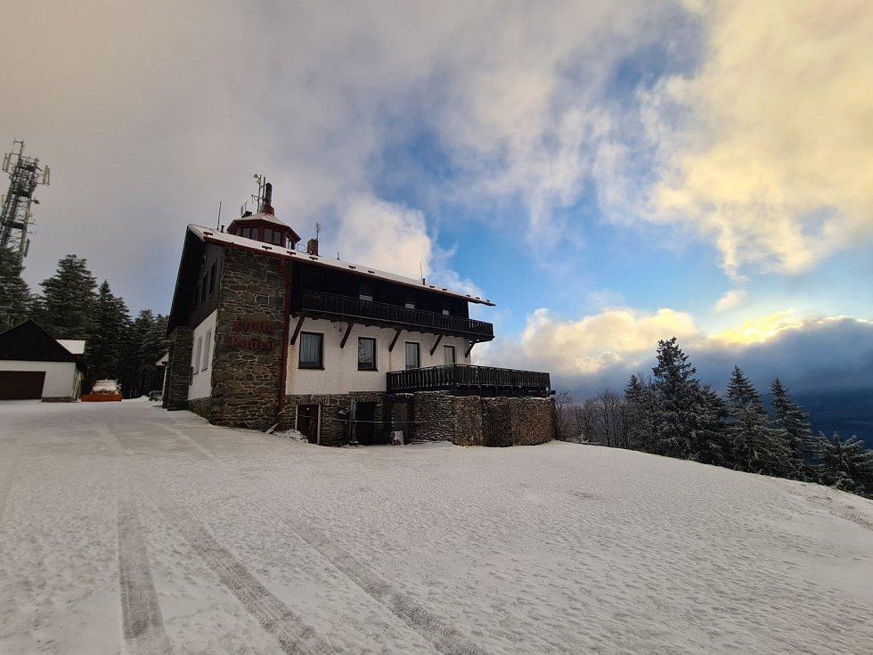 Páteční sníh na Pancíři.