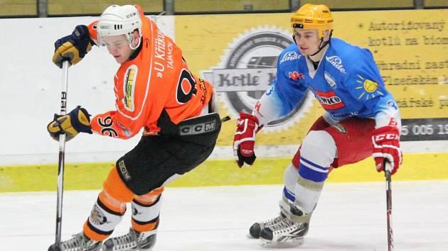 Šumavská liga amatérského hokeje: AHC Vačice (oranžové dresy) - HC 2009 Nýrsko 8:4