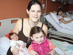 Dagmar Dvořáková ze Strážova (3580 gramů, 52 cm) se narodila v klatovské porodnici 11. března ve 13.08 hodin. Rodiče Dagmar a Jiří přivítali svoji očekávanou dcerku na svět společně. Ze sestřičky má radost i Mirka (3).