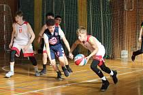 Zápas hochů U14 BK Klatovy - USA na Easter Cupu v Klatovech.