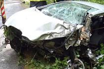 Dopravní nehoda ve Velharticích