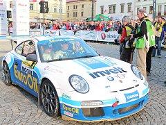 Cíl 51. Rallye Šumava Klatovy.
