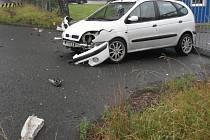 Nehoda opilého řidiče v Lubech