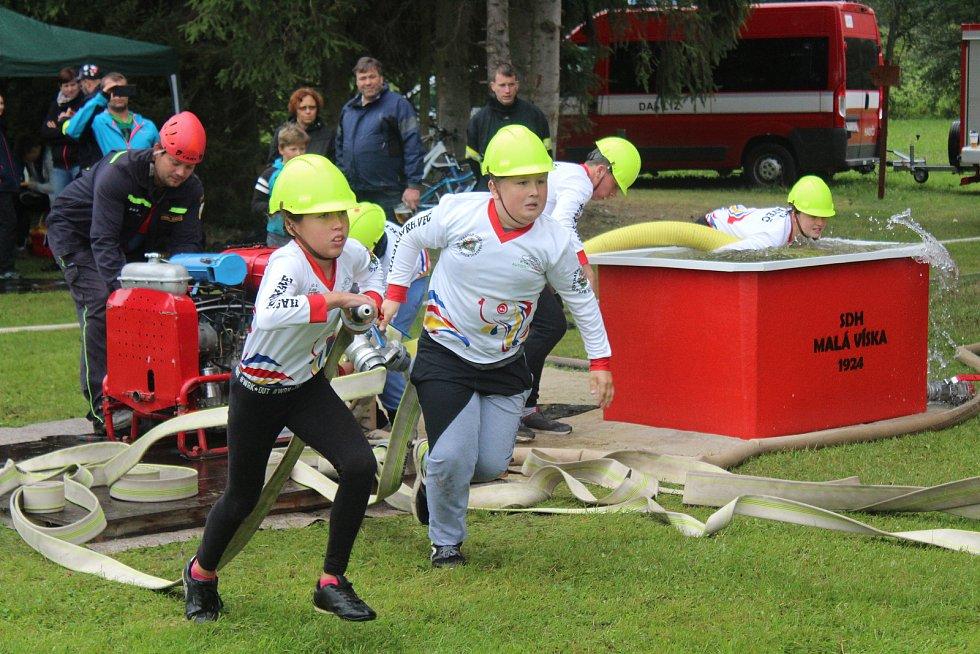 Pošumavská hasičská liga a Dětská liga v Malé Vísce.