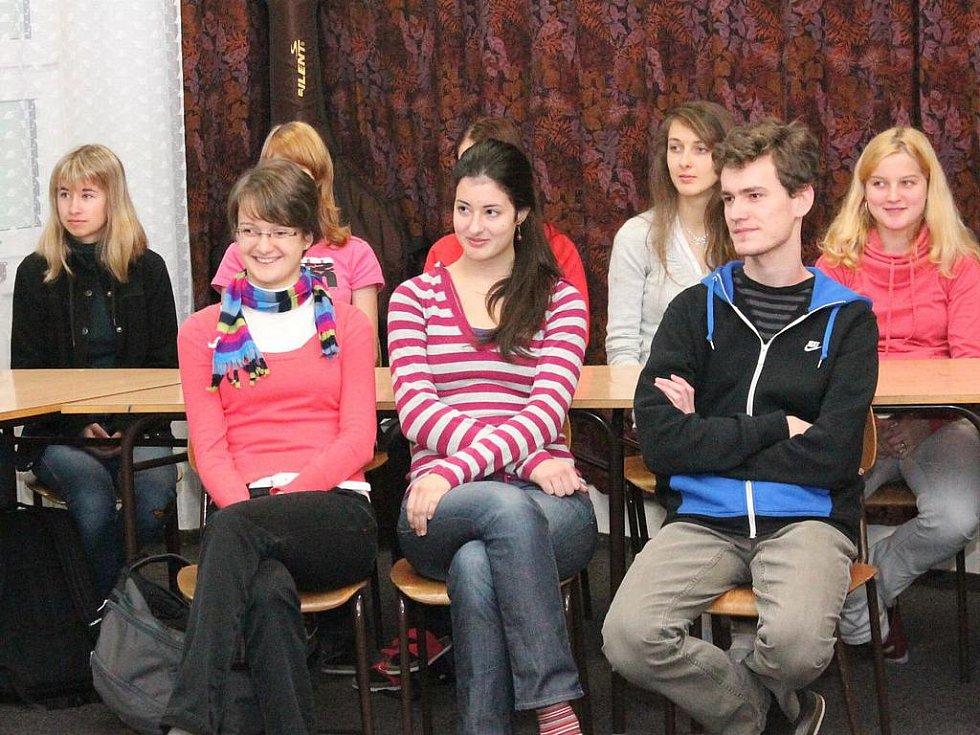 Ocenění úspěšných studentů klatovského gymnázia 2011