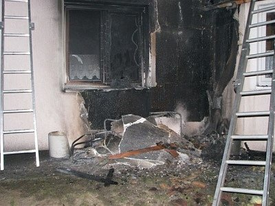 Požár rodinného domu v Letkově
