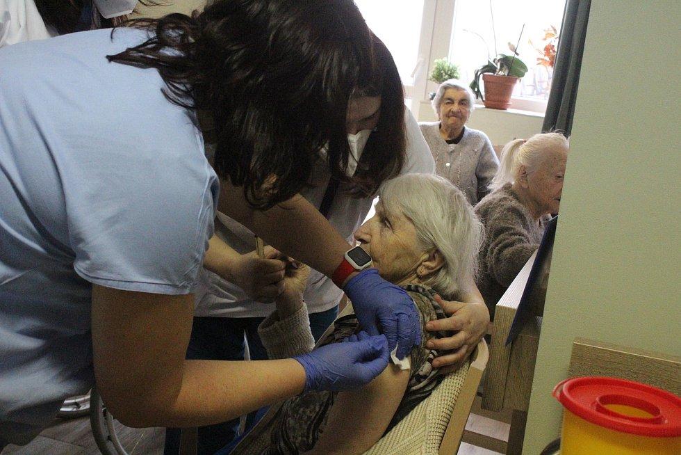 Očkování v Clementas v Janovicích nad Úhlavou.