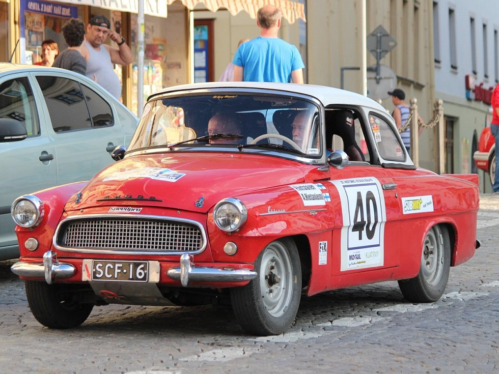 Cíl Historic Vltava Rallye 2018