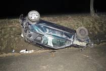 U Nedanic na Klatovsku otočil opilý Bulhar auto na střechu.