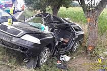 Nehoda mladé řidičky u Bojanovic.