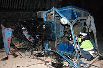Nehoda traktoru u Zámyšle
