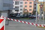Odběrové místo u Klatovské nemocnice.