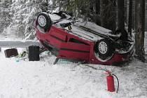 Dopravní nehoda u Javorné.