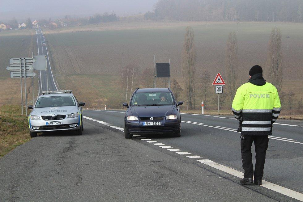 Kontroly na hranicích s Domažlickem.
