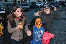Oslava Halloweenu v Klatovech.