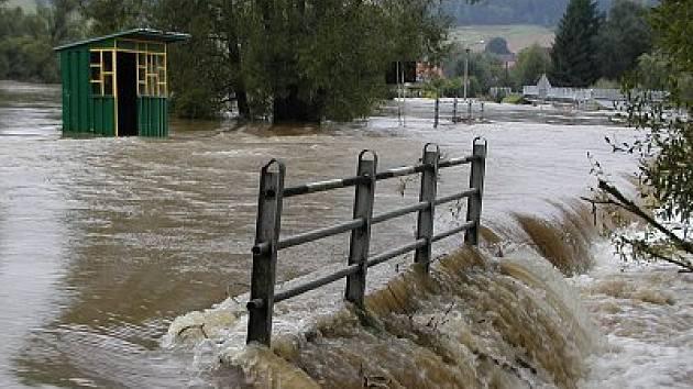 Záplavy na Klatovsku v roce 2002.