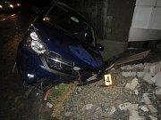 Dopravní nehoda ve Svrčovci. Řidič nechal auto na místě a odešel.