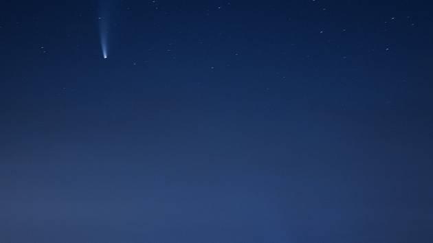 Kometa nad Klatovy.