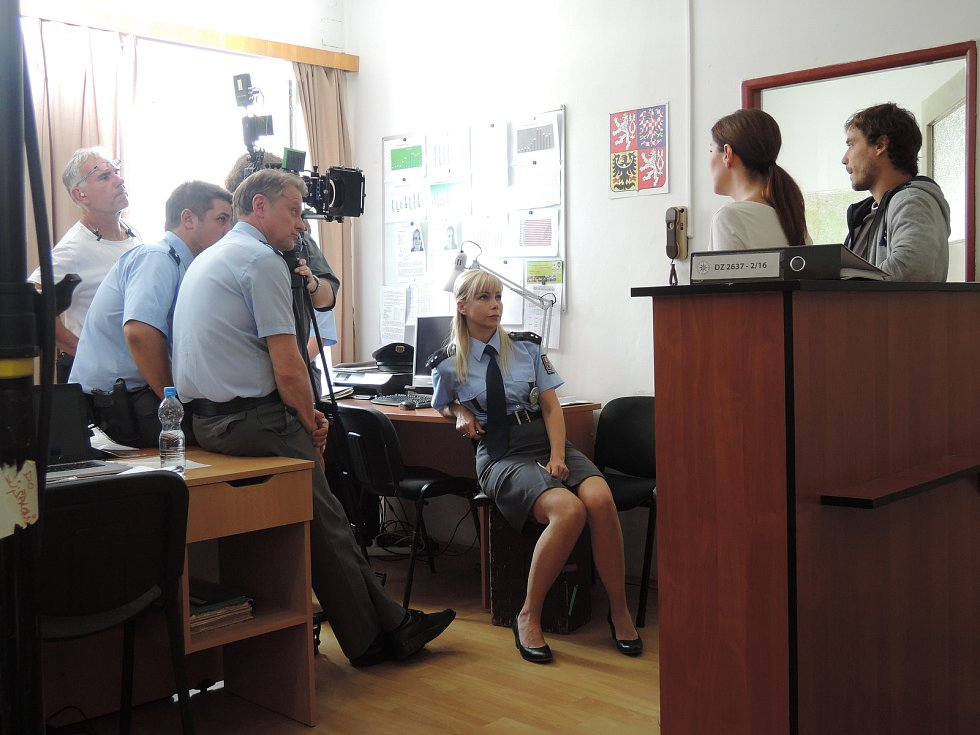 Momentky z natáčení druhé řady Policie Modrava.
