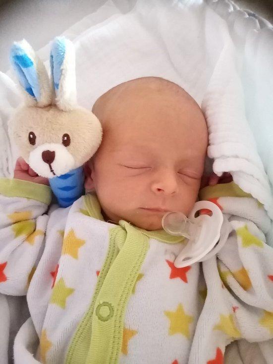 Dominik Červený z Bolešin se narodil vklatovské porodnici 9. července v 8:24 hodin. Měřil 47 cm a vážil 2550 g. Na Dominika se těšili maminka Monika a tatínek Dušan i syn Marek (5). Pohlaví miminka věděli rodiče dopředu.