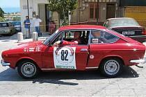 Ladislav Veselý s vozem FIAT 850 Sport Coupé na Targa Lorio Historic Rally na Sicílii.