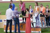 Martina Štychová z Klatov získala bronzovou medaili v běhu na 100 m na mistrovství ČR 2016 v Táboře
