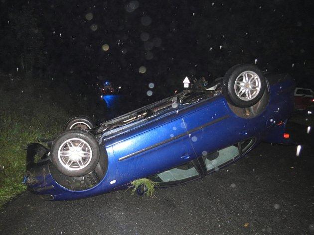 Dopravní nehoda uRejštejna.