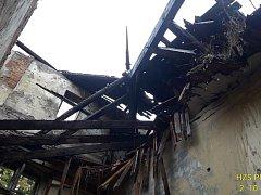 Požár bývalého hotelu Otava v Sušici.