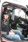 Testování Škody Fabia S2000 před Rallye Šumava s pilotem Janem Černým.