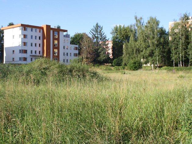 Místo pro výstavbu Atria park Hůrka