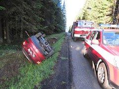 Nabouraná Škoda Octavia, o níž majitel tvrdil, že mu ji ukradli.