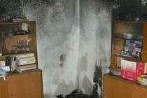Technická závada na televizoru způsobila požár bytu