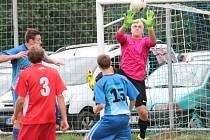 Fotbal, 1. A třída: Pačejov (červené dresy) - Horažďovice